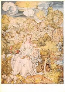 Albrecht Durer - Madonna mit vielen Tieren