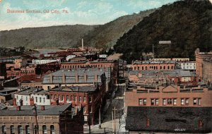 LPS98 Oil City Pennsylvania Business Section Vintage Postcard