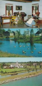 Upper Village Morrisburg Ontario Geese Hotel Cabinet Shop Canada 3x Postcard