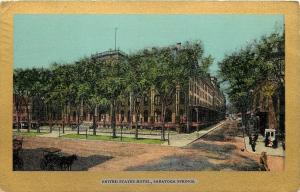 Saratoga Springs New York~United States Hotel~Corner~Ullman Gold Border~1905