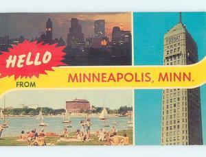 Pre-1980 THREE VIEWS ON CARD Minneapolis Minnesota MN ho7885