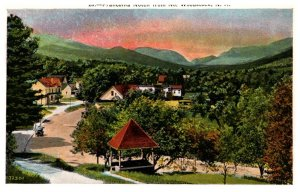 New Hampshire N. Woodstock . Aerial view and Franconia Notch