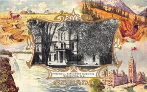 Fredericton N. B. Canada Parliament Building Souvenir Postcard