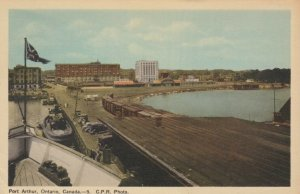 PORT ARTHUR , Ontario , 1930s; Canadian Pacific Railroads, Train Cars on Track