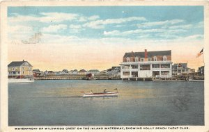 H72/ Wildwood New Jersey Postcard c1910 Waterfront Holly Beach Yacht 56