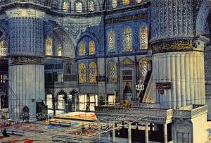 Turkey Istanbul ve Saheserleri Interior of the Blue Mosque Postcard