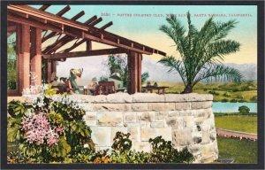 Santa Barbara CA Potter Country Club 1900s-10s Golf Postcard by Edward Mitchell