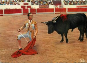 Corrida topic postcard toreador bullfight Luis Miguel Dominguin