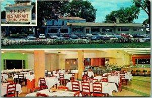 Kentland, Indiana Postcard NU-JOY RESTAURANT & Cocktail Lounge / Hwy 41 / 1963
