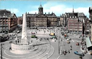 Amsterdam Holland Dam with Royal Palace and National Monument Amsterdam Dam w...