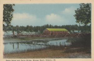 WASAGA BEACH , Ontario , Canada , 1948 ; Nancy Island & Swing Bridge