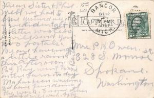 F35/ Bangor Michigan RPPC Postcard 1916 Public School Building