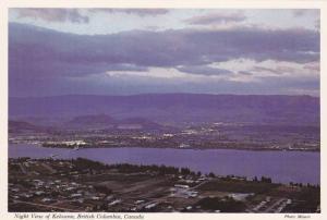 Dusk View Along Shores of Okanagan Lake, Kelowna, British Columbia, Canada, 5...