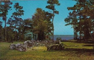 Ruins Of Historic Old Brunswick Town Overlooking The Cape Fear River Wilmingt...