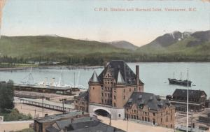 C.P.R. Station & Burrard Inlet , VANCOUVER , B.C. , Canada , 00-10s