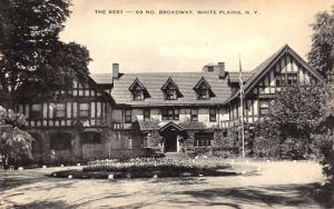 White Plains New York Rest Home Street View Antique Postcard K61968
