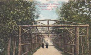 Rustic Entrance to Subway, Genesee Valley Park, Rochester, New York, PU-1910