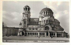Bulgaria Sofia AL Nevsky Alexander Nevsky-Cathedral RPPC 05.62