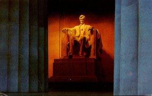 Washington D C Lincoln Statue Lincoln Memorial 1989