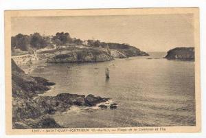 Plage De La Comtesse Et l'Ile, Saint-Quay-Portrieux (Côtes-d'Armor), France,...