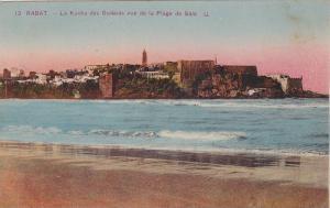 Rabat , Morocco , 00-10s , La Kasba des Oudaias vue de la Plage de Sale