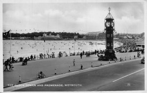 Weymouth The Clock Tower and Promenade Postcard