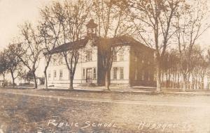 Hubbard Iowa~Public School House~Open Cupola Bell Tower~1909 Real Photo~RPPC
