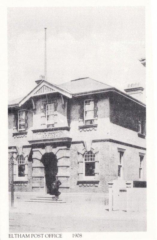 Eltham Post Office in 1908 Taranaki New Zealand Postcard