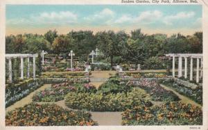 Nebraska Alliance City Park Sunken Garden Curteich