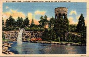 Pennsylvania Kennett Square Chimes Tower Longwood 1943 Curteich