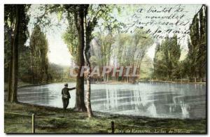 Old Postcard Bois de Vincennes Lake St mande
