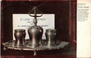 Postcard PA Pennsylvania Philadelphia Independence Silver Inkstand Unposted