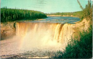 Northwest Territories Alexandra Falls Hoy River Postcard Used (27706)
