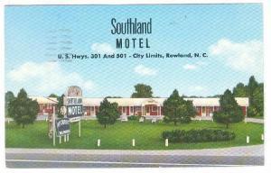 Exterior, Southland Motel, Rowland,  North Carolina, PU-1965