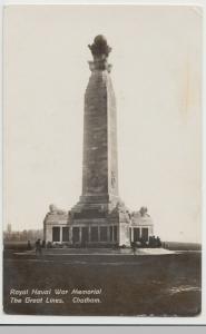 Kent; Royal Naval War Memorial, Chatham RP PPC Unposted, c 1910's
