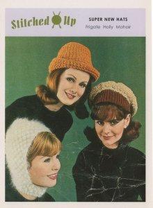 Mohair Frigate Sailor 1950s Ladies Hats Sewing Pattern Comic Postcard
