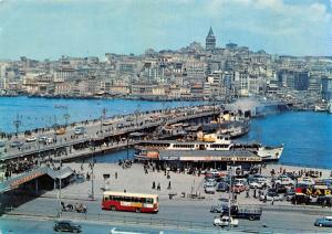 Turkey Istanbul, A General view of Tower and Bridge of Galata, Cars Voitures