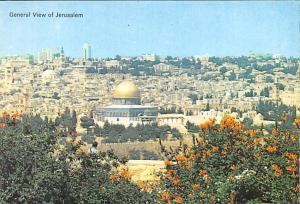 Israel Old Vintage Antique Post Card General View of Jerusalem Unused