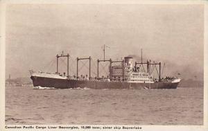 Cargo, Pacific Cargo Liner Beaverglen, Sister Ship Beaverlake, 1910-1920s