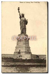 Old Postcard Statue of Liberty Statue of Liberty New York Bay