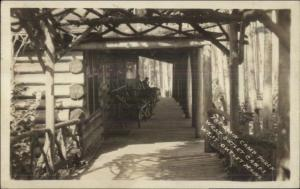 West Outlet ME Camps Porch Real Photo Postcard