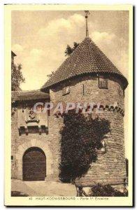 Postcard Old Hochkönigsburg door first speaker