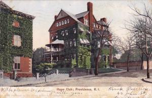 Rhode Island Providence Hope Club 1905