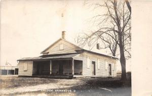 E91/ Damascus Ohio RPPC Postcard 1912 Church Building 5