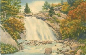 Helen Hunt Falls North Cheyenne Canyon Colorado Springs 1938 Linen Postcard