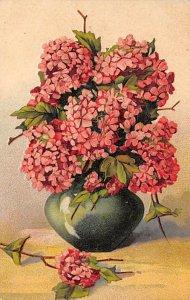 Flowers in a Vase  Postcard 1909