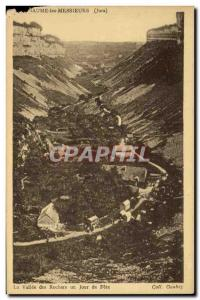 Old Postcard Baume les Messieurs The valley of rocks a feast day