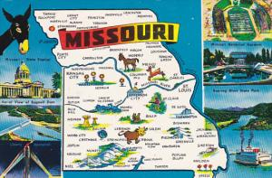 Map Of Missouri Multi View 1960