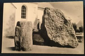Vintage Picture Postcard Unused Jelling Denmark Monuments LB