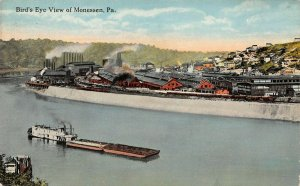 LPS95 Monessen Pennsylvania Aerial View Vintage Postcard